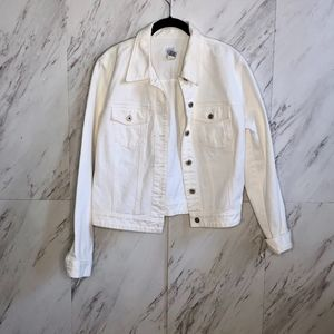 Classic Gap White Denim Jacket